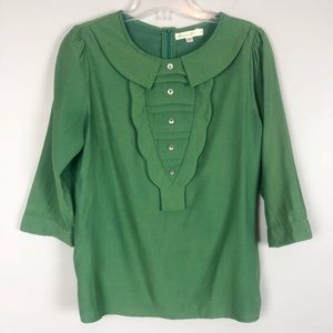 Comme Toi Green Top Size Small
